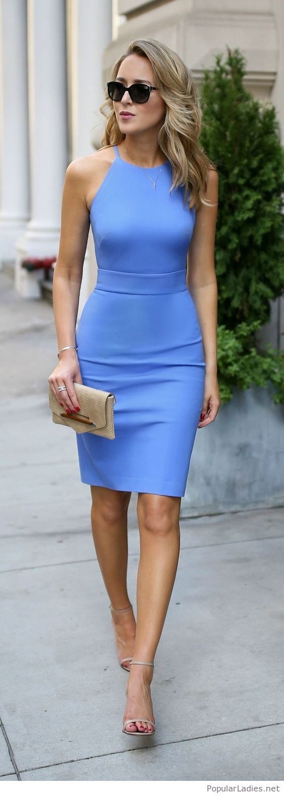 Свадьба - Amazing Classic Blue Dress With Nude Details