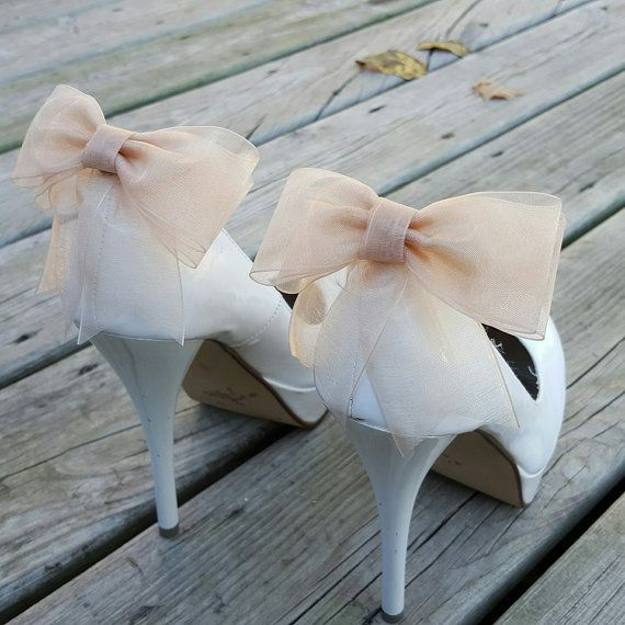Wedding - Shoe Clips, Shoe Clips Wedding, Shoe Clips Bridal, SHoe Clips Bows, Shoe Clip Ons, Shoe Clips Wedding Shoes, Shoe Clips Champagne, Shoe Ons
