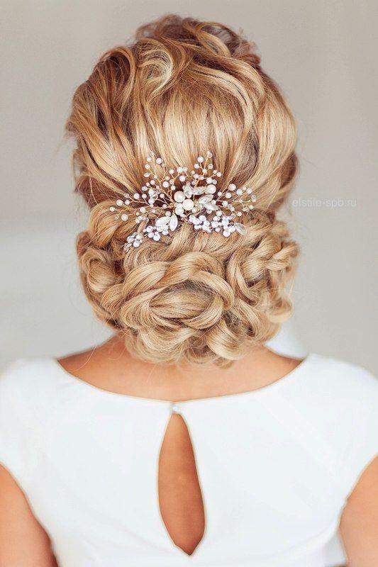 زفاف - Wedding Hair Clip Bridal Headdress Bridal Hair Comb Bridal Hair Piece Rhinestone Bridal Hair Decorative Clip Bridal Headpiece Pearly Comb