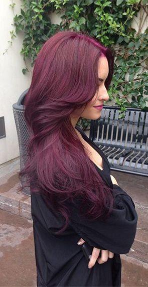 زفاف - Ombre Remy Human Hair #1B/Burgundy Body Wave