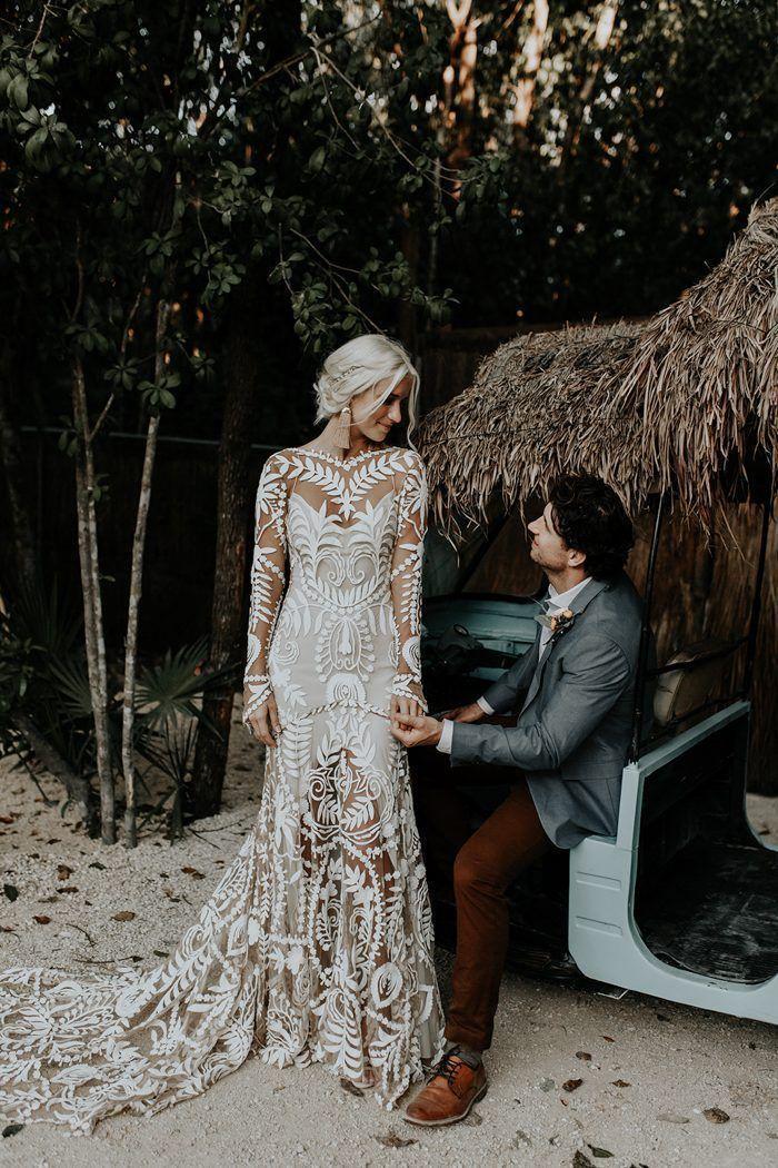 Свадьба - Blissful Boho Tulum Destination Wedding At Papaya Playa Project
