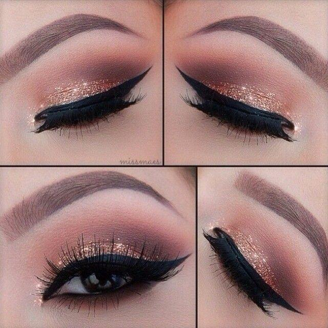 زفاف - Get Glittery Peepers For New Year's Eve By Clicking Here - Http://dropdeadgorgeousdaily.com/2013/12/new-years-eve-makeup-tutorial/ #makeup…
