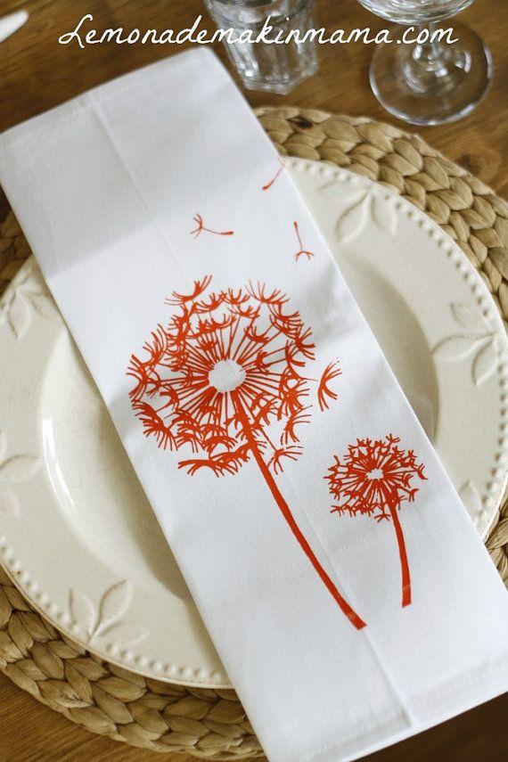 Свадьба - Love These Dandelion Napkins!