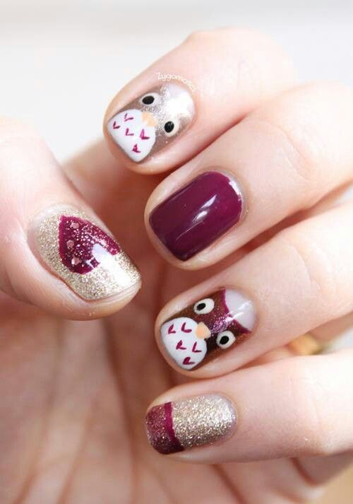 Wedding - 33 Earthy And Stylish Fall Nail Art Ideas