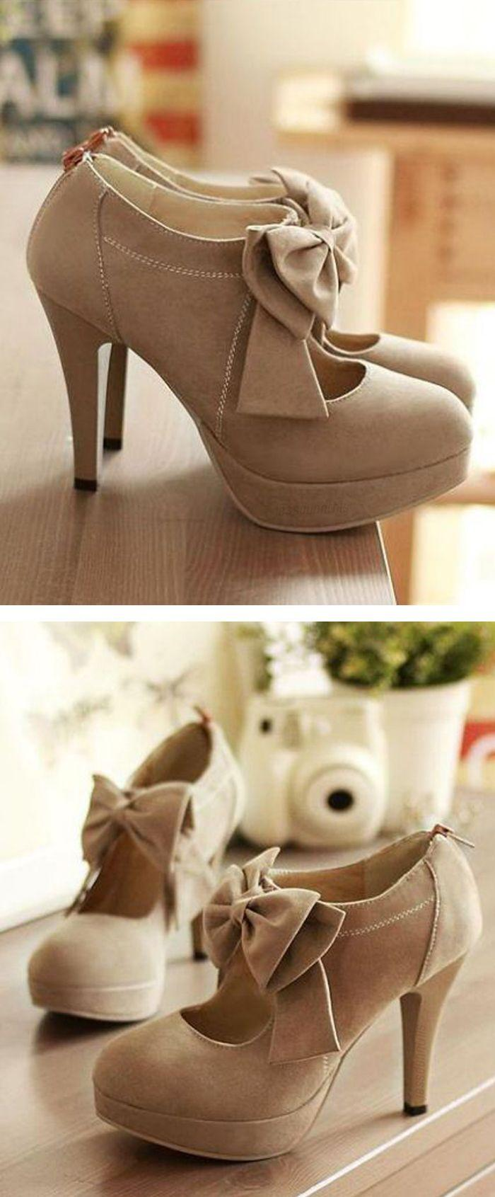 Wedding - Cute Bow Mary Jane Pumps