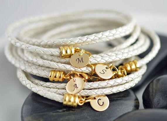 Wedding - Custom Initial Bracelets, Personalized Bridesmaid Gift, Customized Bridesmaid Gifts, Personalized Bridesmaid Bracelet