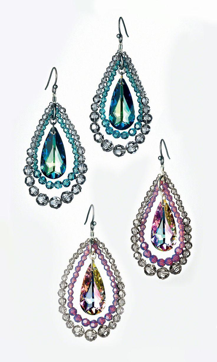 Hochzeit - Jewelry Design - Earrings With Swarovski Crystal - Fire Mountain Gems And Beads