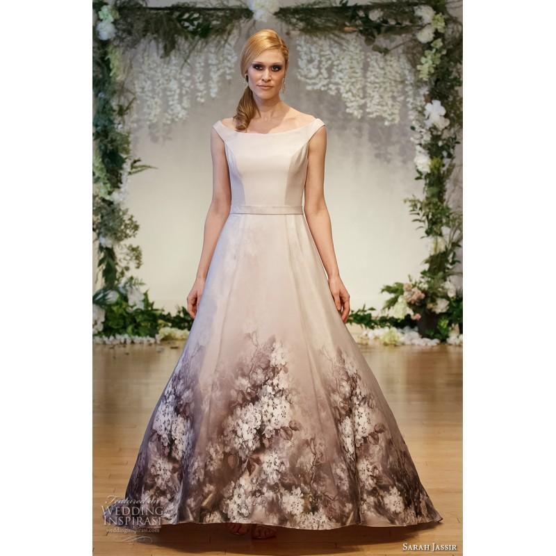 زفاف - Sarah Jassir 2017 Sweep Train Vogue Organza Others Printing Cap Sleeves Off-the-shoulder Aline/Princess Wedding Dress - Crazy Sale Bridal Dresses