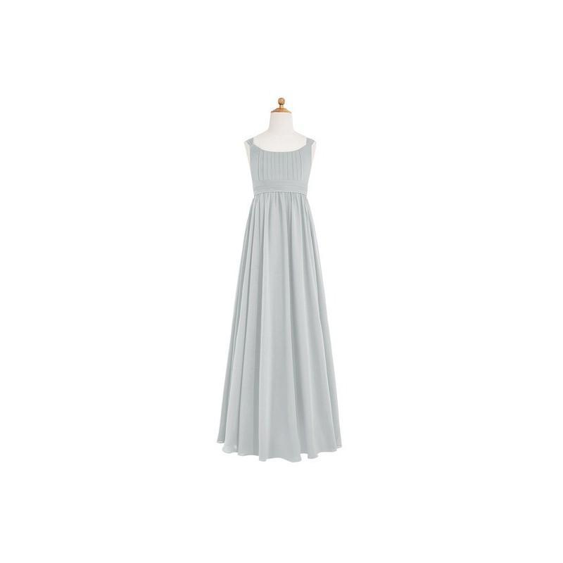 890c73bb960 Silver Azazie Tiana JBD - Bow Tie Back Scoop Floor Length Chiffon Dress -  Simple Bridesmaid Dresses   Easy Wedding Dresses