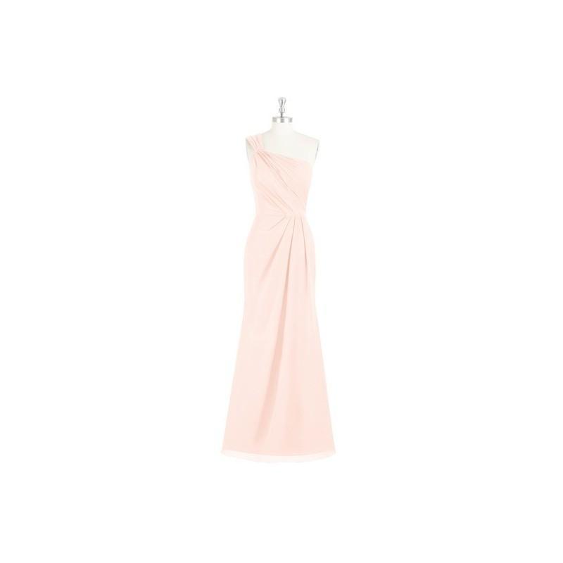 af95f297e3 Pearl pink Azazie Carissa - Floor Length Strap Detail One Shoulder Chiffon  Dress - Simple Bridesmaid Dresses   Easy Wedding Dresses