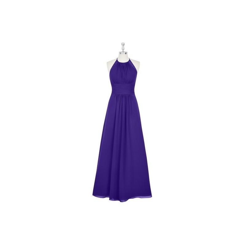 Свадьба - Regency Azazie Regina - Chiffon And Lace Floor Length Halter Strap Detail Dress - Simple Bridesmaid Dresses & Easy Wedding Dresses