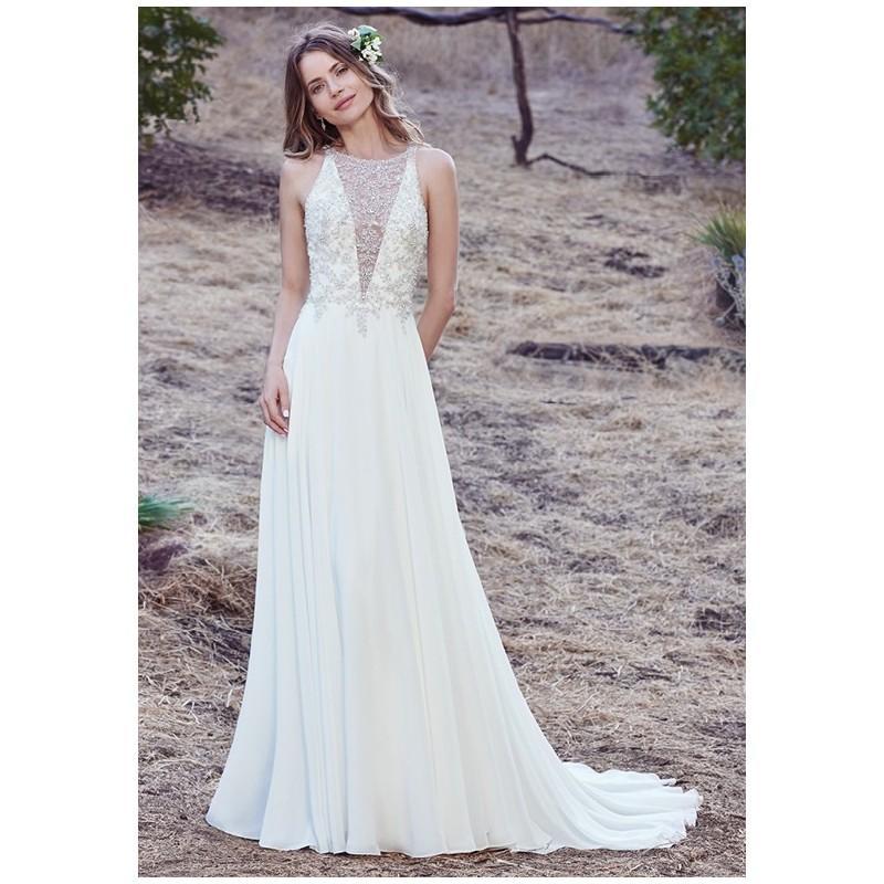 Wedding - Maggie Sottero Maren - Sheath V-Neck Natural Floor Tulle Beading - Formal Bridesmaid Dresses 2018