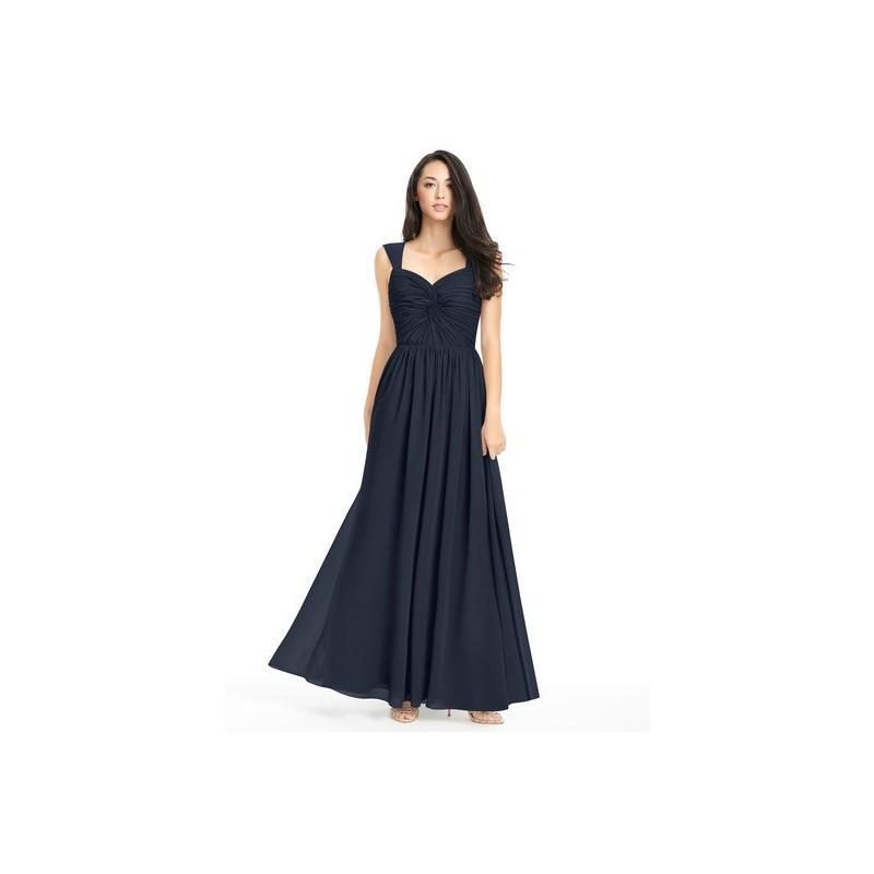 Hochzeit - Dark_navy Azazie Amya - Sweetheart Scoop Chiffon Floor Length Dress - Simple Bridesmaid Dresses & Easy Wedding Dresses