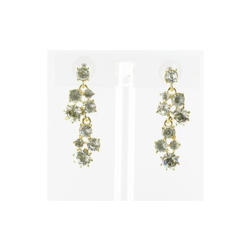 Свадьба - Helens Heart Earrings JE-X006969-G-Clear Helen's Heart Earrings - Rich Your Wedding Day
