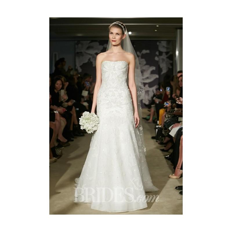 Mariage - Carolina Herrera - Spring 2015 - Clementine Strapless Embroidered Tulle Trumpet Gown - Stunning Cheap Wedding Dresses