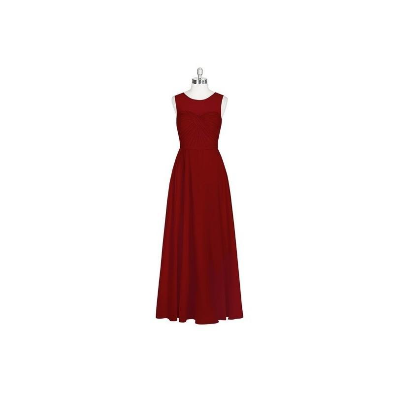 8e0dfc4b3dd5 Burgundy Azazie Justine - Sweetheart Chiffon Illusion Floor Length Dress - Simple  Bridesmaid Dresses & Easy Wedding Dresses