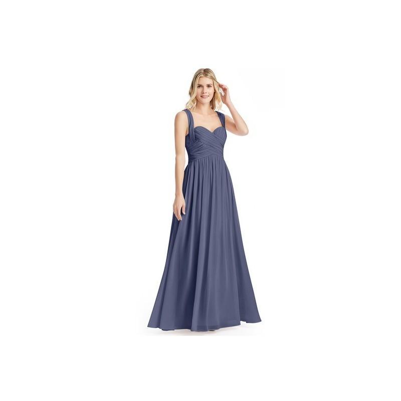 2c21a9cbf8f Stormy Azazie Cameron - Floor Length Sweetheart Chiffon Back Zip Dress -  Charming Bridesmaids Store