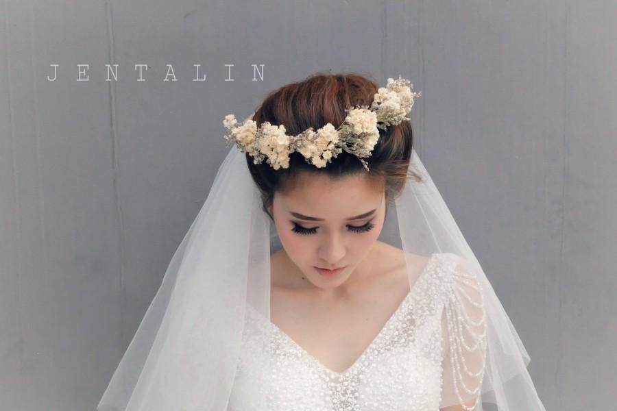 زفاف - Alencon lace veil, lace veil, Bridal veil, Wedding veil, flower crown veil