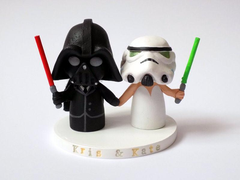 زفاف - Wedding Cake Topper - Star Wars