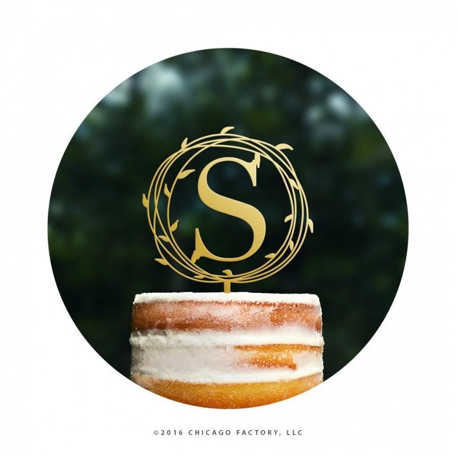 زفاف - Custom Initial Cake Topper Outdoor Wedding Cake Topper Rustic Wedding Cake Topper for Wedding Monogram Cake Topper Engaged Cake Topper T466