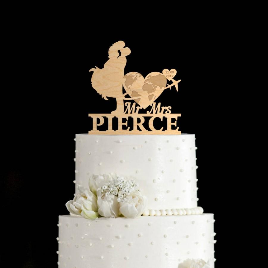 Mariage - Travel wedding cake topper,Travel cake topper,travel wedding cake,travel wedding,travel themed cake topper,wedding cake topper,707