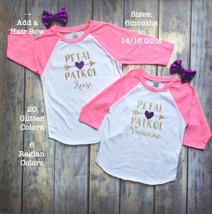 زفاف - Flower Girl Shirt Petal Patrol Shirt Flower Girl Shirts Girls Raglans Flower Girl Outfit Bridesmaids Flower Girl Gift Wedding Tshirts Tanks