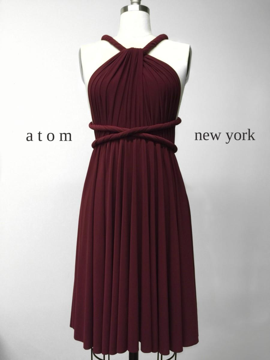 Wedding - Burgundy Wine Red SHORT Infinity Dress Convertible Formal Multiway Wrap Bridesmaid Dress Cocktail Evening Dress Christmas Party Wedding