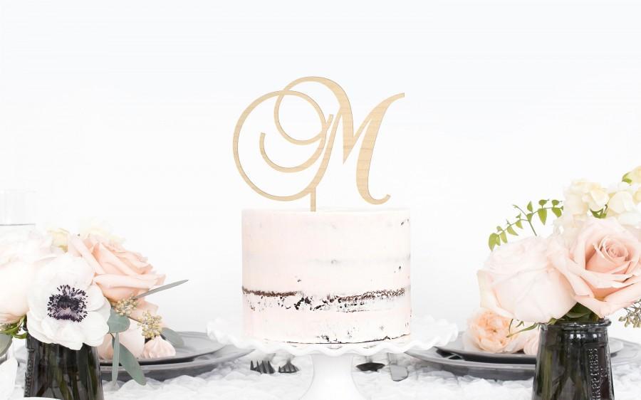 Wedding - Monogram Cake Topper