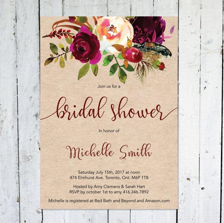 47004de0b107 Fall Bridal Shower Invitation