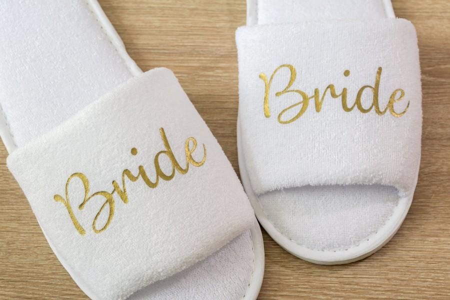 spa Personalised Slippers Bride,Bridal Hen Wedding Slippers Bridesmaid