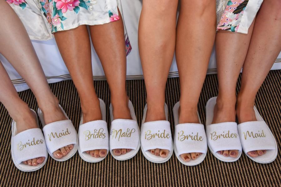 a4c565e879d Bridesmaid Slippers Personalised Wedding Slippers Bride Slippers ...