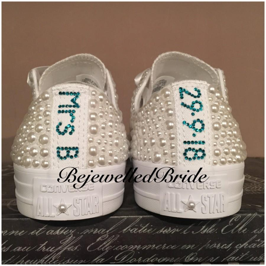 9990cb7e25cccb Personalised White Wedding Converse