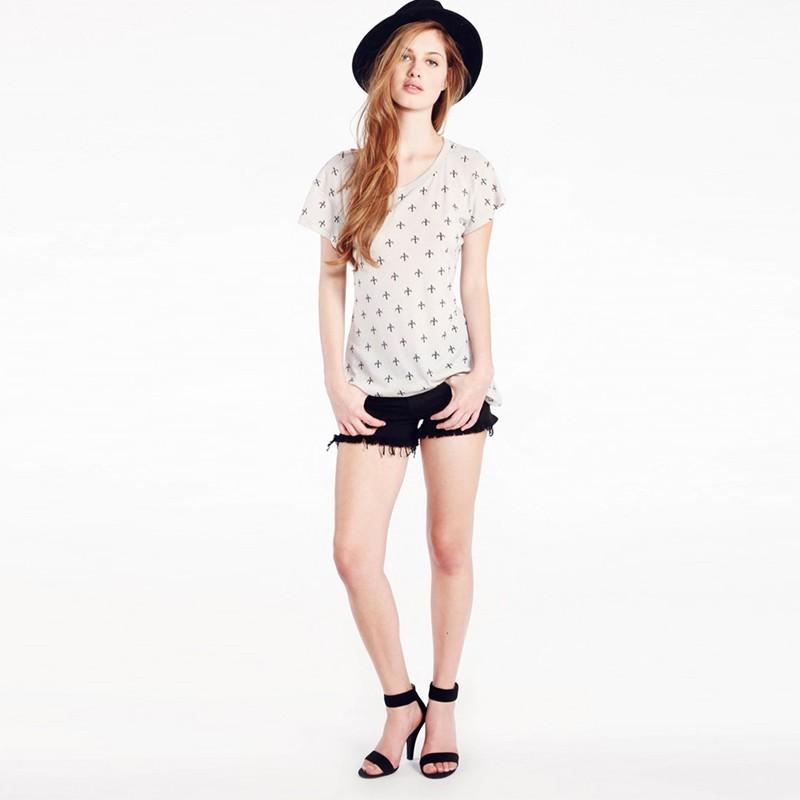 Wedding - Oversized Simple Sweet Printed Scoop Neck Ancho'r Summer Short Sleeves T-shirt - Bonny YZOZO Boutique Store