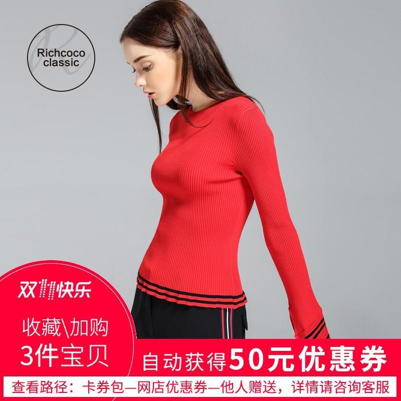 Wedding - Asymmetrical Slimming Scoop Neck 9/10 Sleeves Knitted Sweater Top Sweater - Bonny YZOZO Boutique Store