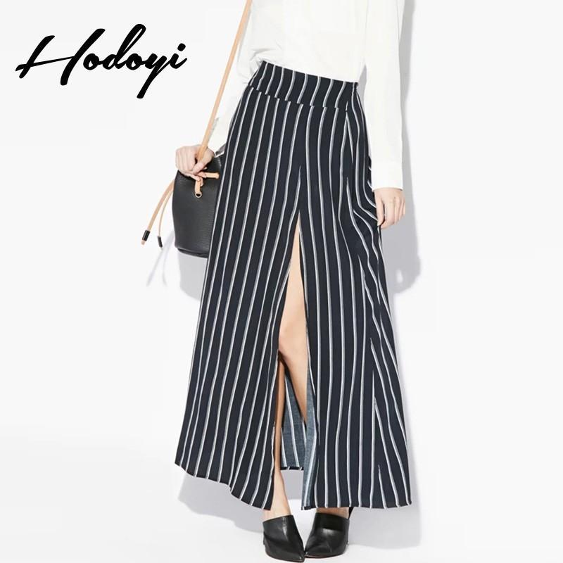 Свадьба - Vogue Vintage Split Solid Color Spring Enchanting Casual Stripped Skirt - Bonny YZOZO Boutique Store