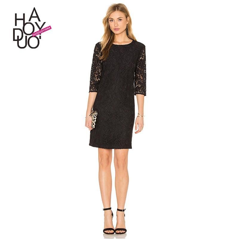 Wedding - Fall 2017 women new fashion quality lace dresses, slim - Bonny YZOZO Boutique Store