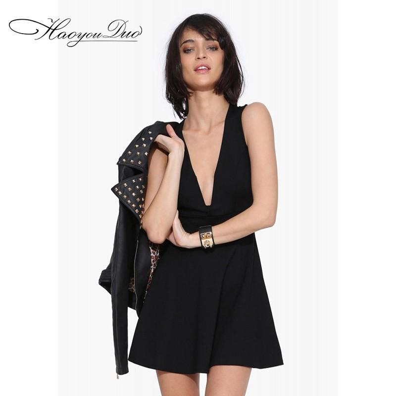 Mariage - Sexy V-neck Black Dress Skirt - Bonny YZOZO Boutique Store