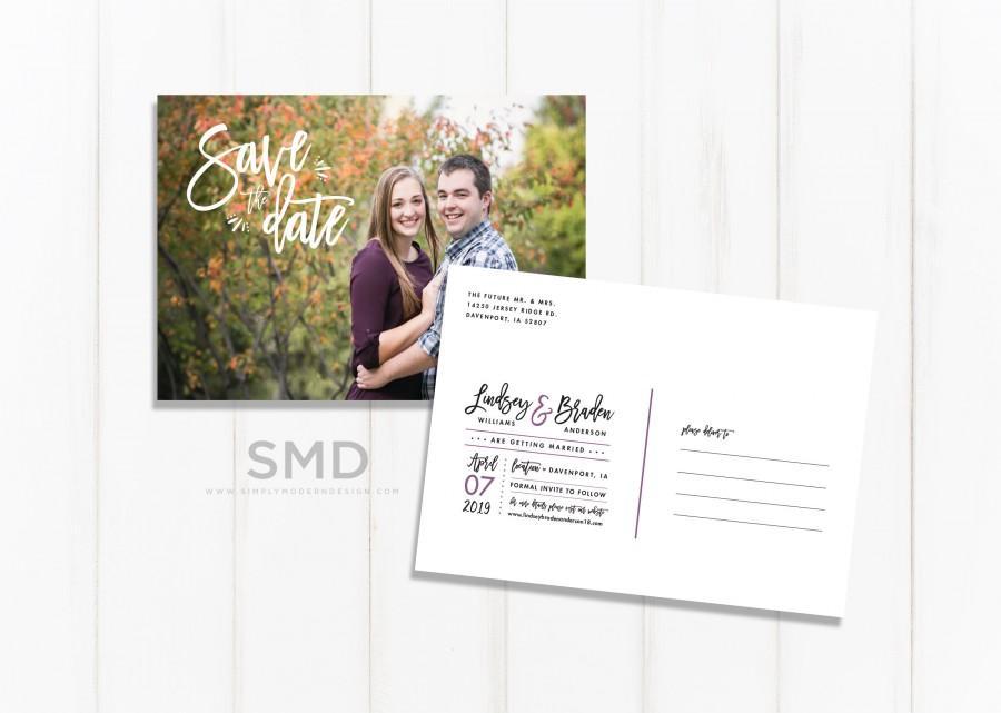 زفاف - save the date postcard, wedding save the date, save our date, wedding invitation, photo save the date, card, PRINTABLE or PRINTED CARDS