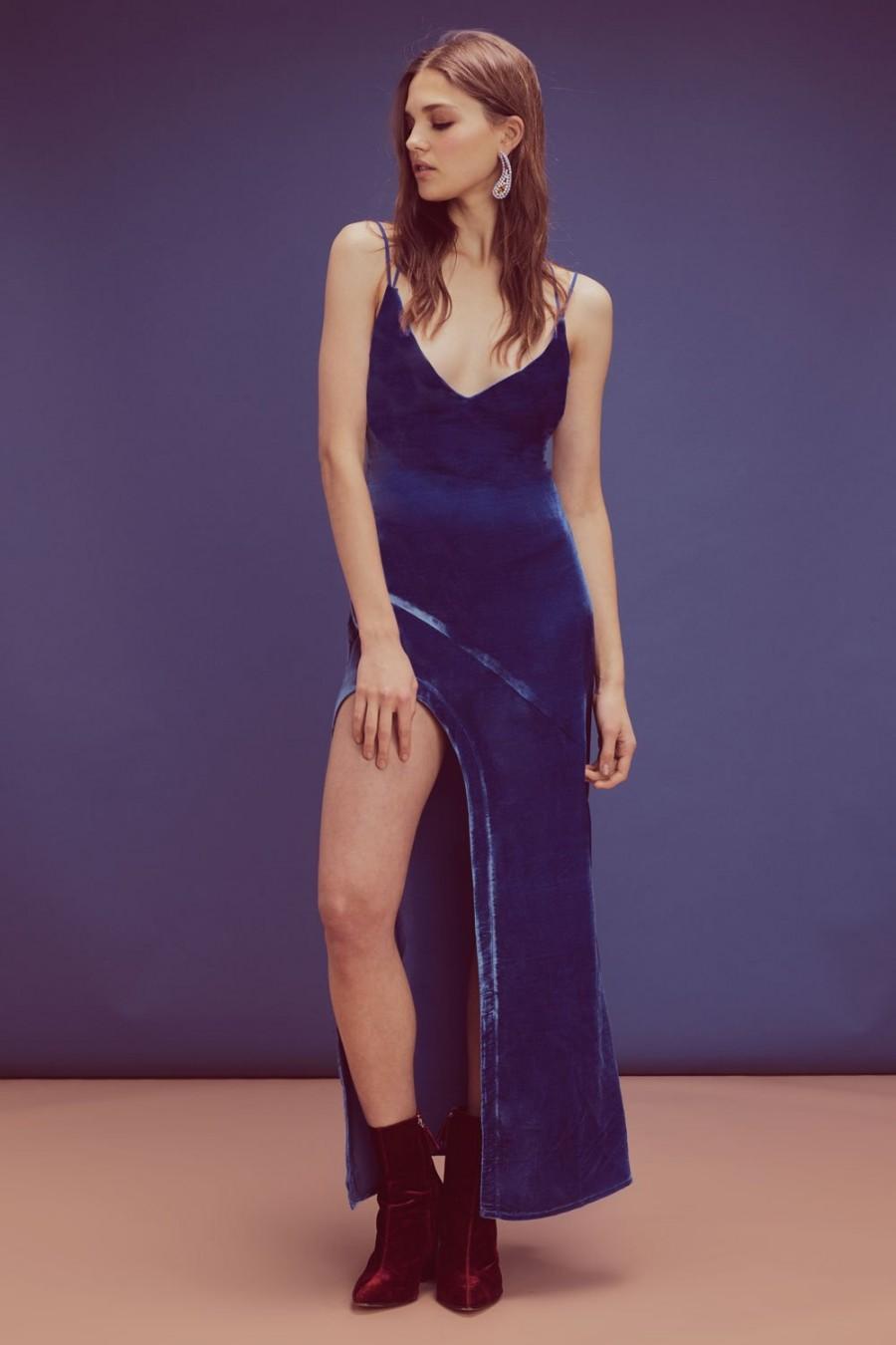 Свадьба - For Love and Lemons Nadine Velvet Maxi Dress
