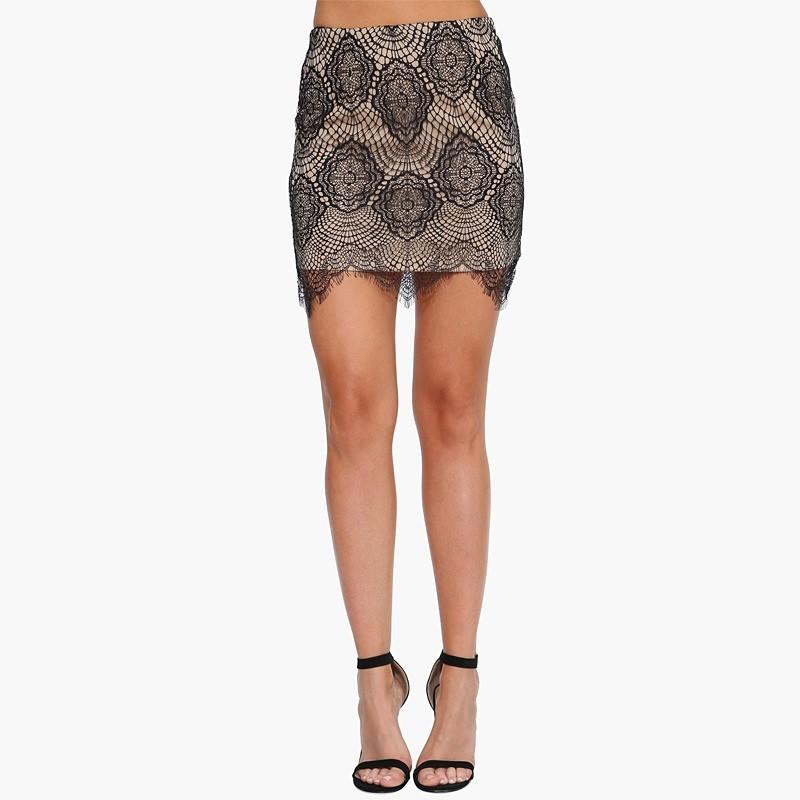 Wedding - Sexy Hollow Out Crochet Sheath Lace Skirt Pencil Skirt - Bonny YZOZO Boutique Store