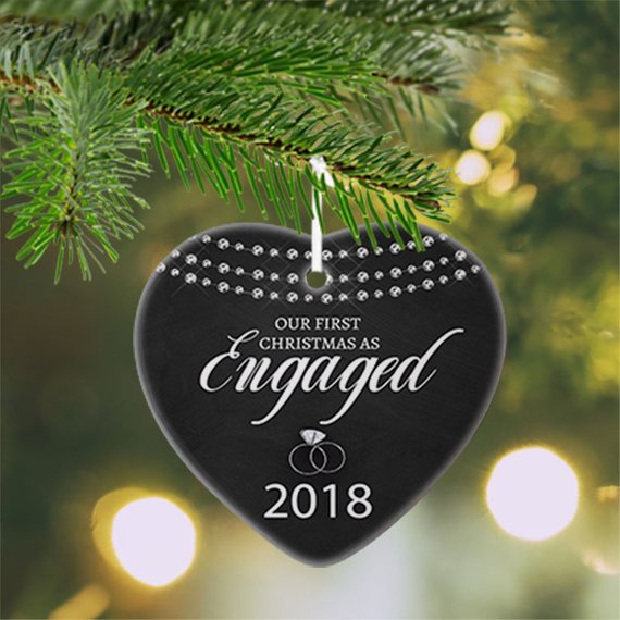 Engagement Christmas Ornament Our First Christmas Engaged Ornament