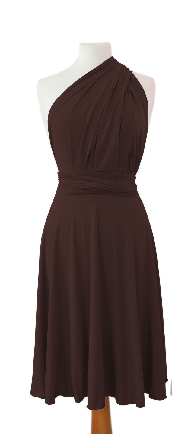 Wedding - Convertible dress in  brown color,Bridesmaids dress,  dress with matching tube top