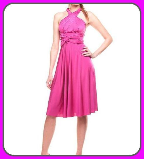 Mariage - Convertible dress in fuchsia color, Bridesmaid  dress with matching tube top