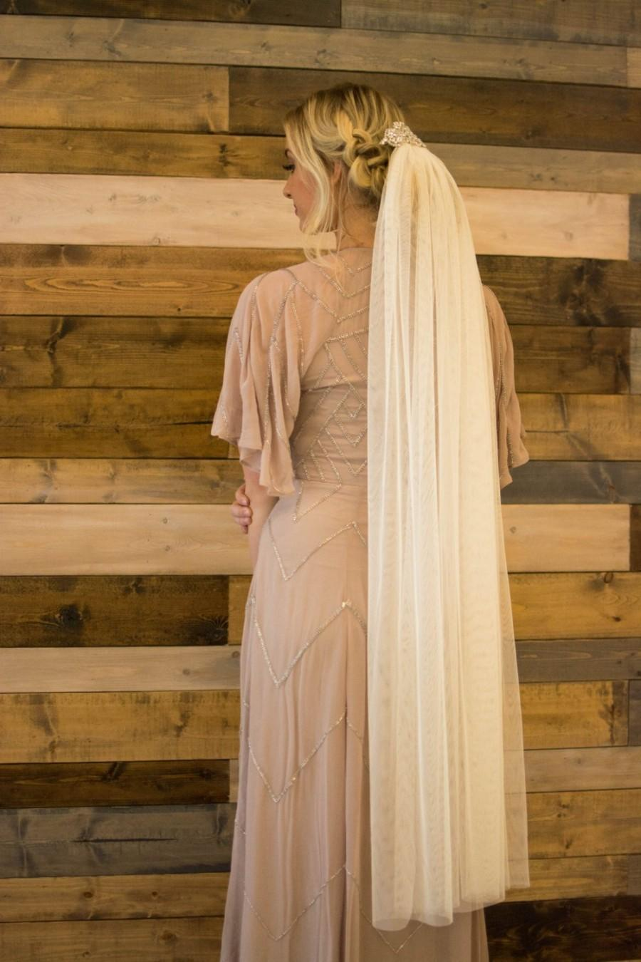 Mariage - Veil English Net Tulle Wedding Bridal Veil  Knee length