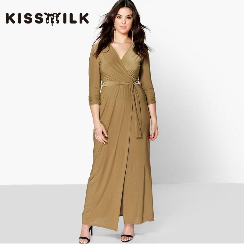 Wedding - 2017Plus Size women's autumn new fashion slim High waist long sleeved lace dress - Bonny YZOZO Boutique Store