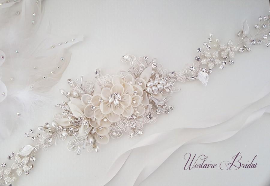 Mariage - Floral Wedding Sash, Bridal Belt, Custom Wedding Belts and Sashes - Style 789.1