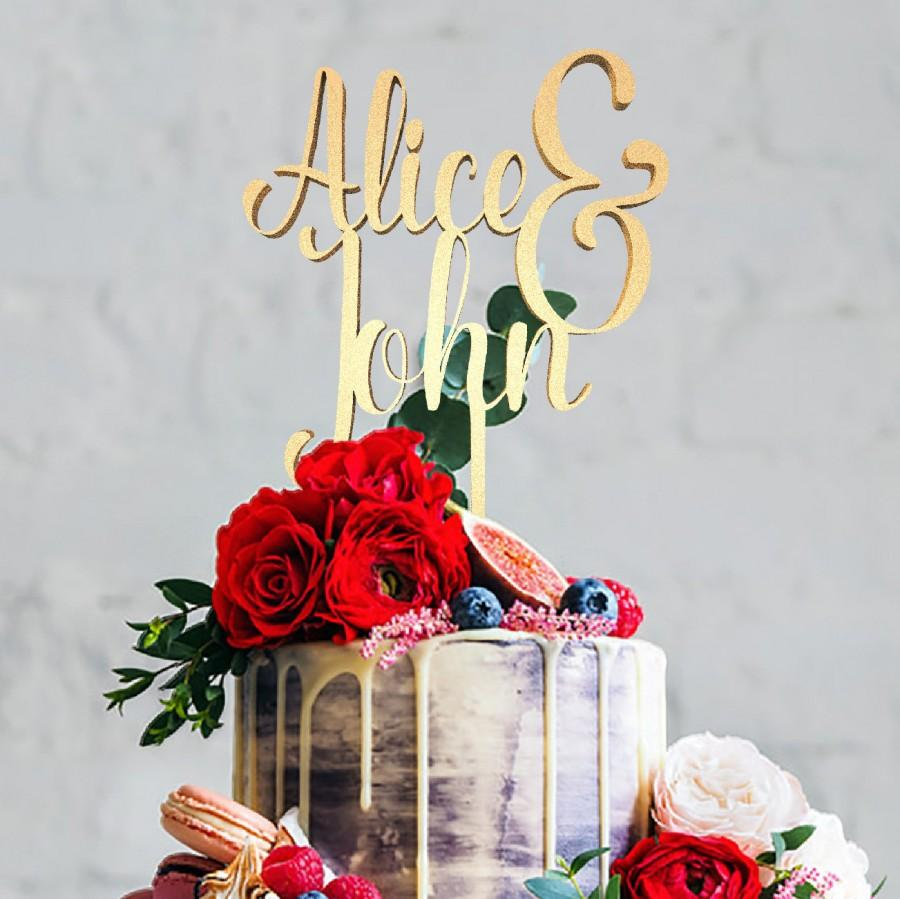 Свадьба - Personalized Name Wedding Cake Topper, Mr Mrs Topper, Mr And Mrs Alice and John, Cake Topper, Wedding Cake , Personalized Cake, Cake Toppers