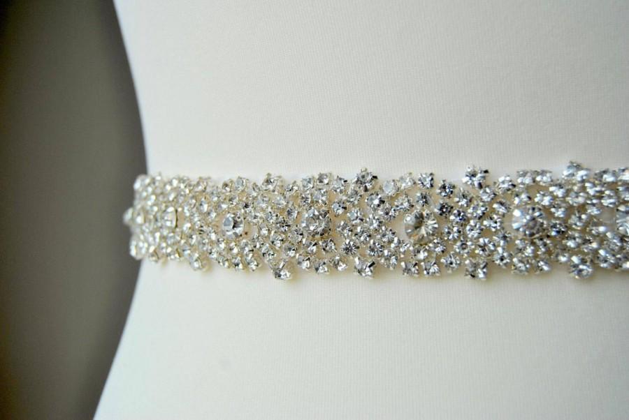 Mariage - Bridal Belt, Wedding Belt, Wedding Crystal Belt, Bridesmaid Belt , All around belt, Dress Sash Belt, Bridal Sash