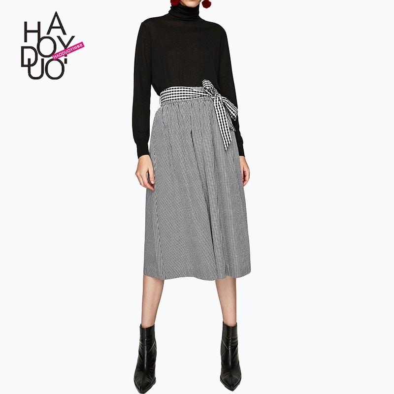 Свадьба - Vogue Solid Color High Waisted Lattice Fall Tie Skirt - Bonny YZOZO Boutique Store