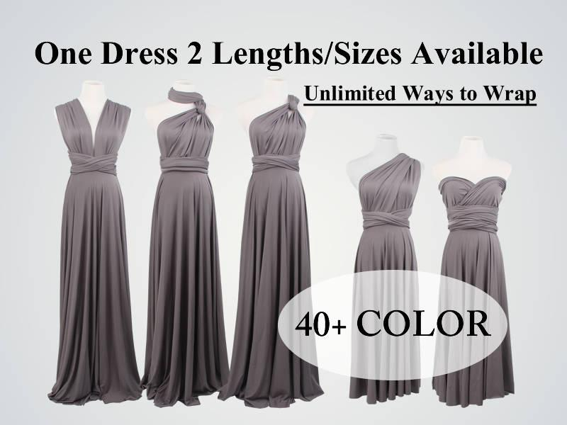 Mariage - Bridesmaid dresses, Gray Bridesmaid Dress Infinity Dress Convertible Dress Wrap Dress Multiway Dress Prom Dress Wedding Dress Cocktail Dress